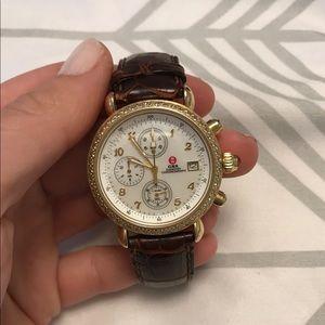 Michele gold diamond csx watch